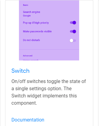 Switch Flutter